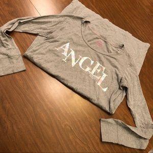 Victoria's Secret Angel Sequin Logo Sleep Shirt